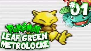 Pokemon Leaf Green Randomized Metrolocke!! Episode #01 - Our Adventure Begins!!