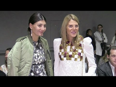 Anna Dello Russo and more at Giambattista Valli Fashion Show in Paris
