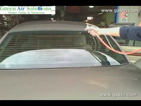 Green Air Solutions TN. Spraying Car for ODORS and SELF CLEANING Outside Windows