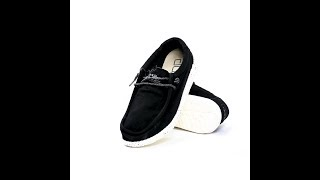 Hey Dude Shoes - 360° Wally Washed (Black)