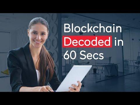 Blockchain Decoded in 60 Seconds | How Does Blockchain Work 2018 | Blockchain Simplified | Acadgild