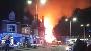 Several people dead after explosion destroys building in Leicester