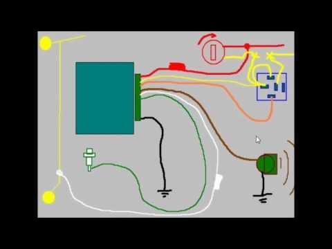 Ciurso De Alarmas Para Automovil, Lección 7a, Como Se Conecta Una Alarma Para Auto