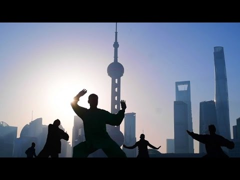 Tai Chi enthusiasts practice in Shanghai