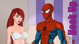 Cartoon Hook-Ups: Spider-Man und Mary Jane
