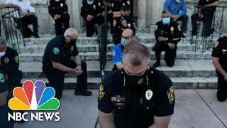 Some Police Officers Show Support For George Floyd Protesters | NBC Nightly News
