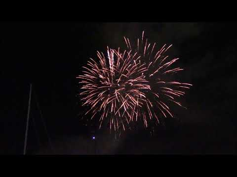 Countdown and New Year's Fireworks Over West Palm Beach Waterfront 2018