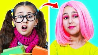 De Nerds a Popular || Cómo hacerse popular en la escuela en 24 horas