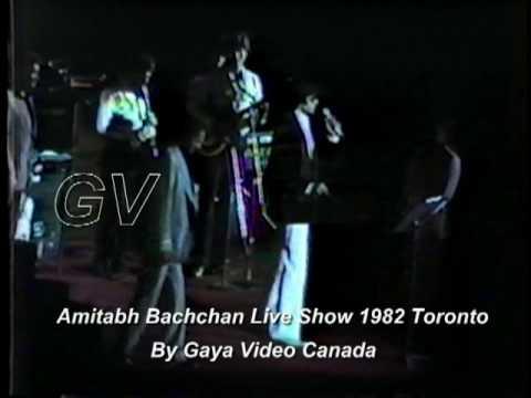 AMITABH  LIVE SHOW Toronto 1982 Part 1 BY SABIR GAYA