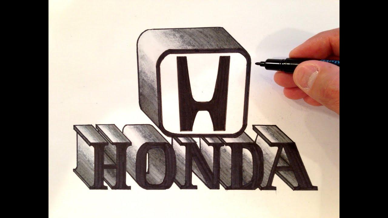 How To Draw The Honda Logo 3D
