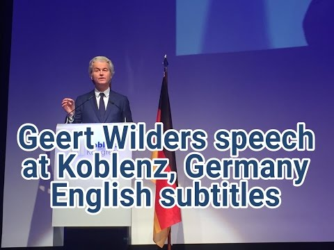 Geert Wilders speech @ Koblenz, Germany with English subtitles