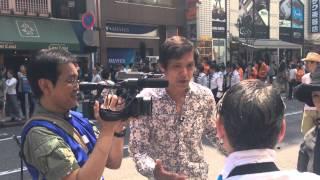 2014/6/1 阿部レポーター 渋谷でインタビュー中 たまたま居合わせ、iPho...