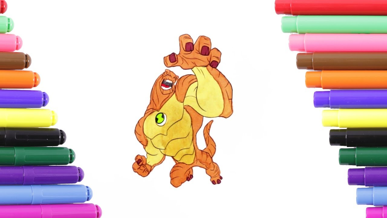Ben 10 Humungousaur çocuklar Için Boyama Sayfası Boyama Kitabı