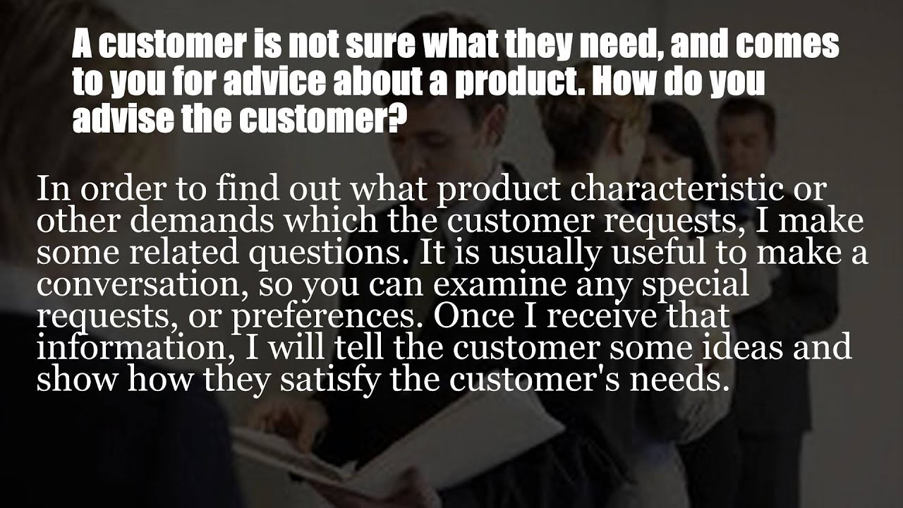 sample customer service interview questions