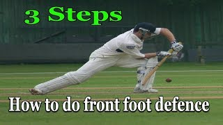 Cricket batting tips: डिफेंस कैसे करते है !How to play defence in hindi !  three steps RG Advise
