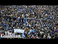 Thousands of Leicester City fans march to honour Vichai Srivaddhanaprabha