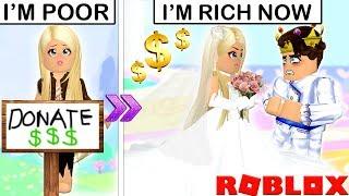 Era povera, quindi ingannava un ricco principe per sposarla... Una storia di Roblox