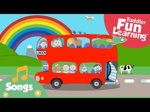 The Wheels on the bus | Toddler Fun Learning | Nursery Rhyme