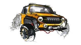 자동차 스케치 & 디자인(Jeep Sketch & Design)