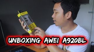 Unboxing Awei A920BL Wireless Bluetooth From Lazada