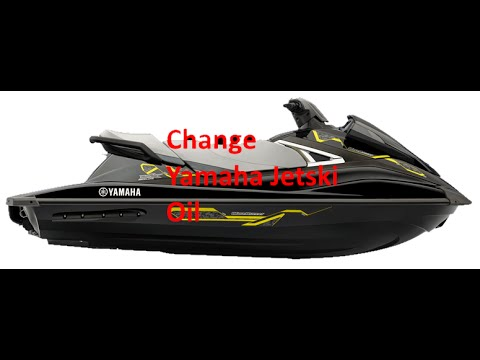 How to Change Oil on yamaha 2015 vx deluxe Jet Ski in Water