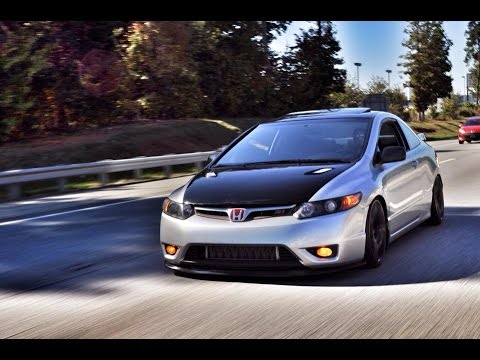 Eaton M90 Supercharged 2006 Civic Si Fly-By - YouTube