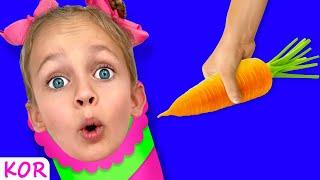 엄마 엄마 저 에게 음식을 주세요 - 어린이 노래   어린이 교육   Kids Song by Maya and Mary