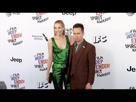 Leslie Bibb and Sam Rockwell 2018 Film Independent Spirit Awards