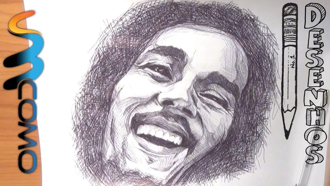 Como Desenhar O Bob Marley Youtube Bob Marley Desenho Para Colorir