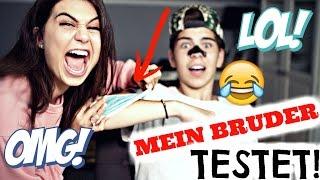 MEIN BRUDER testet BEAUTY Produkte!! + MEGA VERLOSUNG!!
