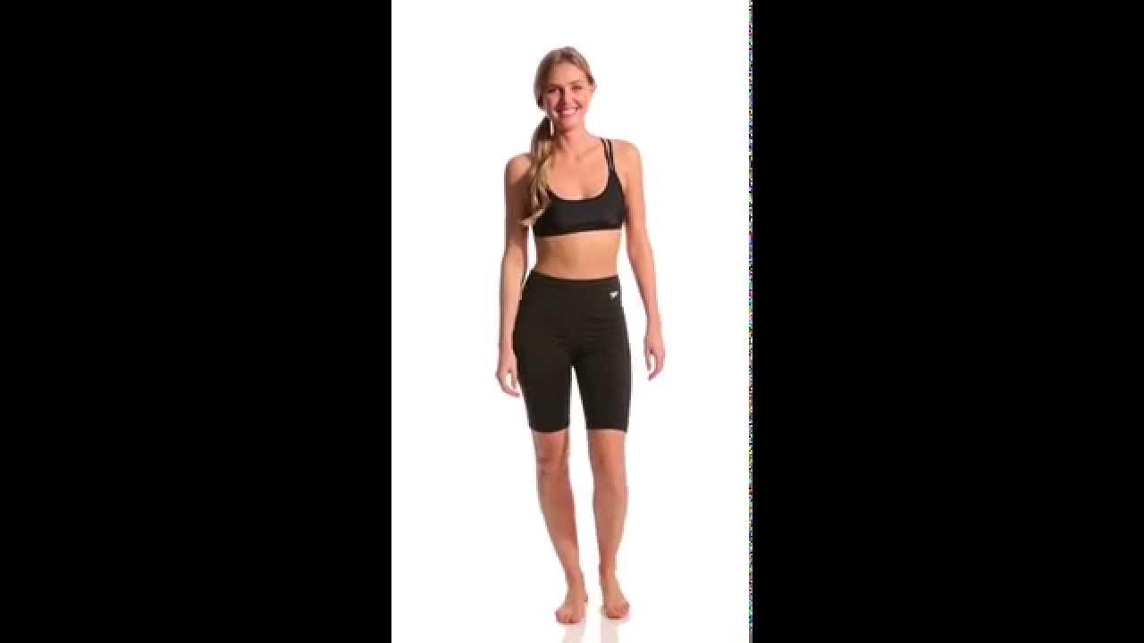 a1a8218aee Speedo Women's Jammer | SwimOutlet.com - YouTube