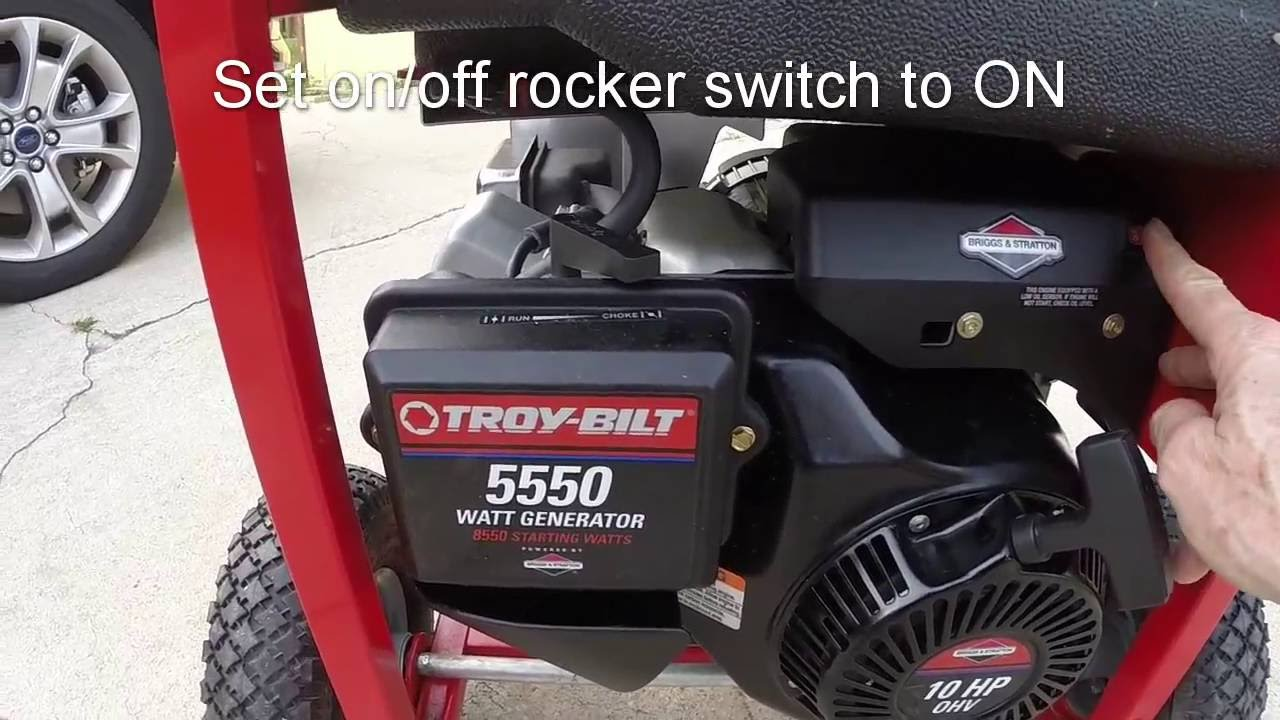 Troy-Bilt 5550 Watt Generator Starting, Oil Change and Storage Hints