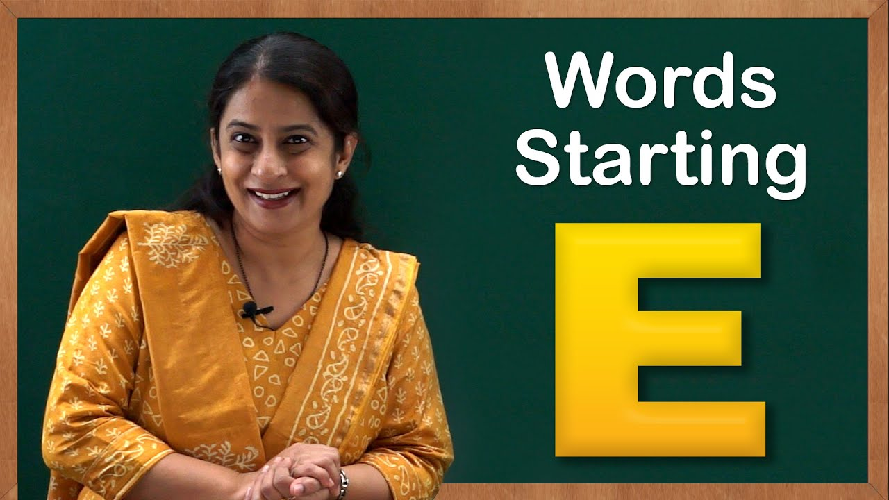 Learn Words Starting With E Flash Cards Words Starting With