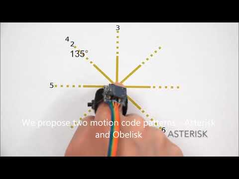 Asterisk and Obelisk: Motion Codes for Passive Tagging