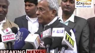 TMC MP Shisir Adhikary meets the press at Jhargram on 23 January, 2015