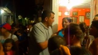 Visita de Marcos Figueroa al sector Oscar Medina, en Puerto La Cruz