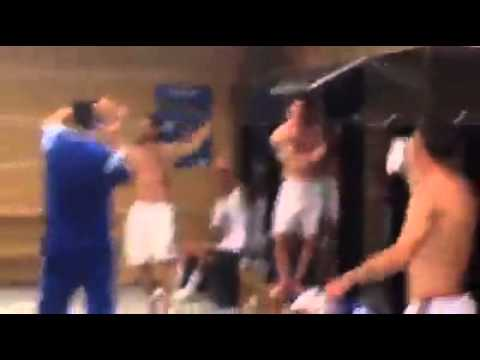 Argentina dressing room celebration