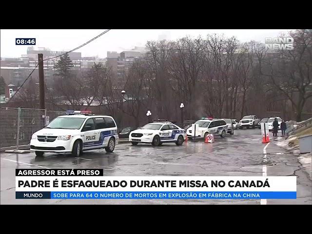 Padre é esfaqueado durante missa no Canadá