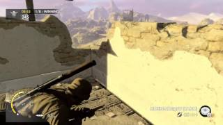 Sniper Elite 3 Multiplayer Deathmatch Outpost Canyon #45