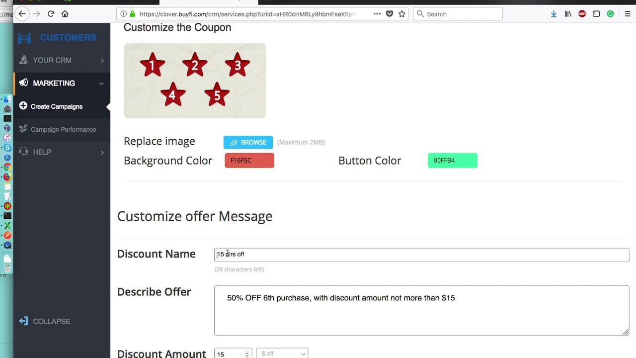 Create Punch Card Campaign With Minimum