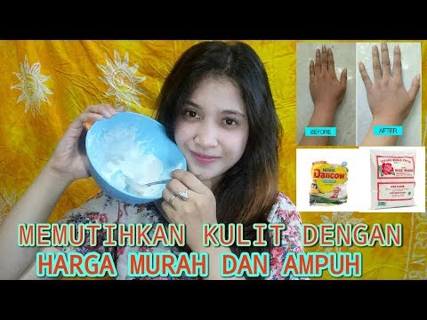 Memutihkan kulit dengan tepung beras dan susu dengan harga murah dan ampuh || Maharani Utami