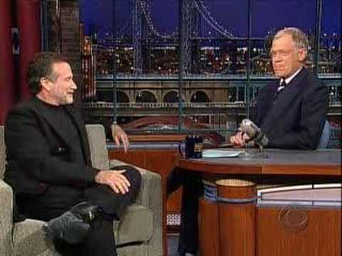 Robin Williams on Letterman Part 1