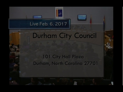Durham City Council Meeting February 6 2017 Youtube