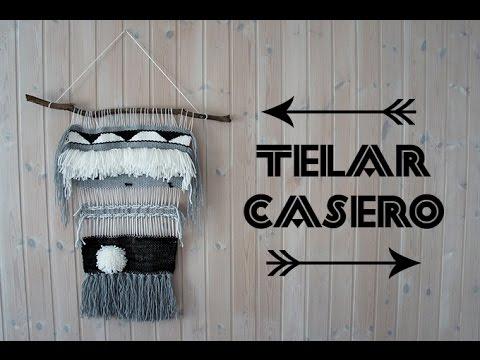 Diy telar casero c mo hacer tu propio tapiz casero youtube for Como hacer un perchero de pared