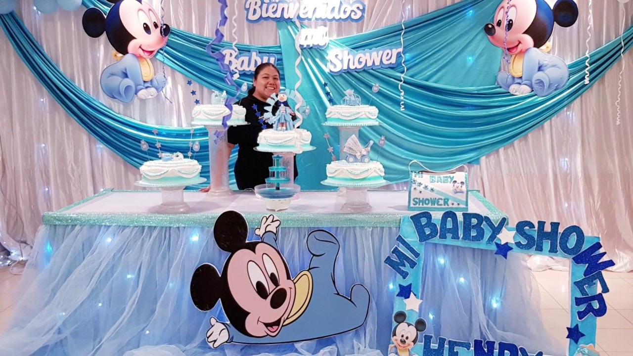 Aprende A Decorar Tu Baby Shower Tematica Mickey Baby