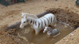 Learning Animals Name Elephant Zebra Deer with Animals Toys Q kids Tv
