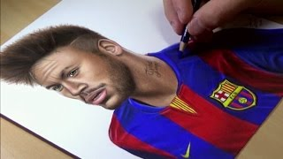 Drawing Neymar Junior - Barcelona