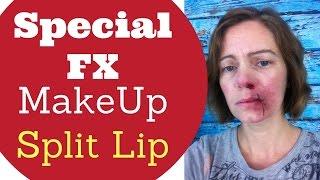 Easy Halloween makeup for Beginners  Split Lip Makeup  Fake Cuts  Bruise Makeup