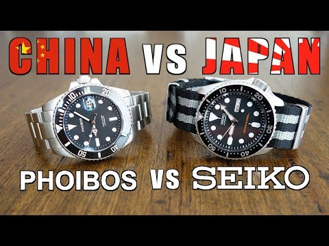 "Automatic Dive Watch Duel: Phoibos ""Great White"" PY007C vs. Seiko SKX007 - Perth WAtch #127"