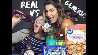 NAME BRAND vs GENERIC FOOD!!! (Blind taste test)